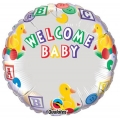 Welcome Baby &quot;Insert a Name&quot; with ducks Foil Balloon